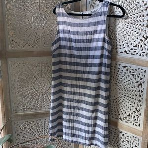 Beachlunchlounge White & blue striped shift dress